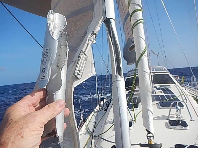 Kiwi Spirit furler damage