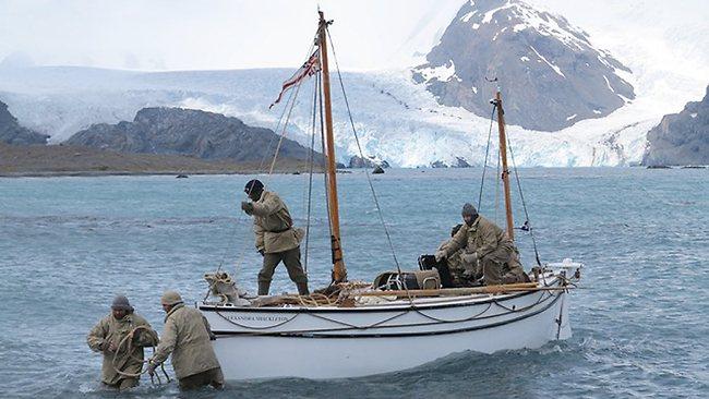 A. Shackleton on beach