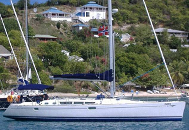 Asante at anchor