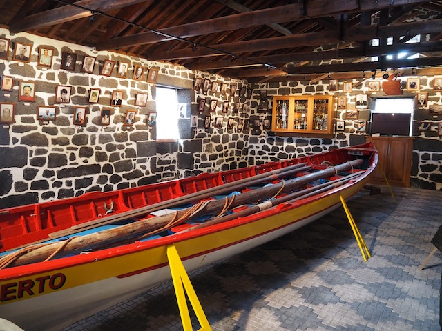 Whaleboat in shed