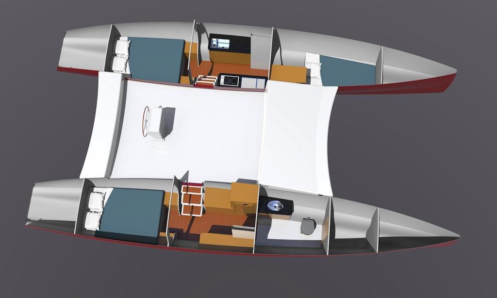 Maine Cat 38 interior