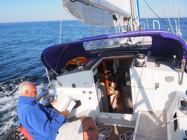 Lassen in cockpit