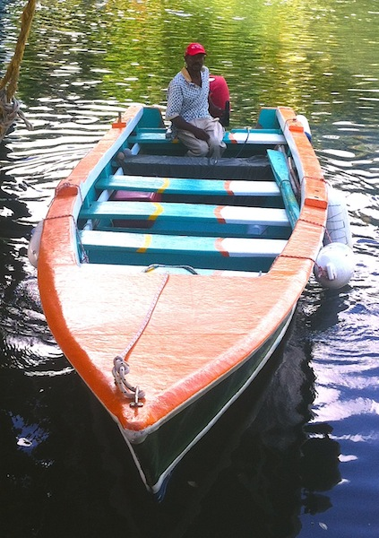 Albert's boat head on