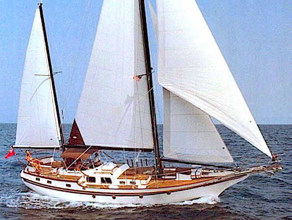 Vagabond 47 sailing