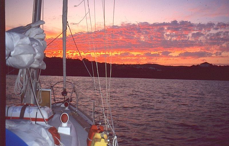 Guadiana sunset