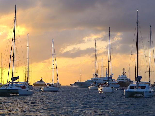 Gustavia anchorage