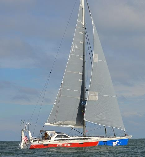 Kiwi Spirit under sail