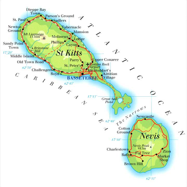 Kitts map