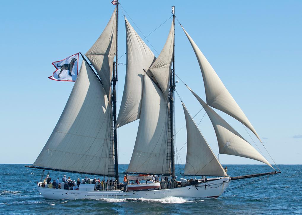 Traditional gaff schooner