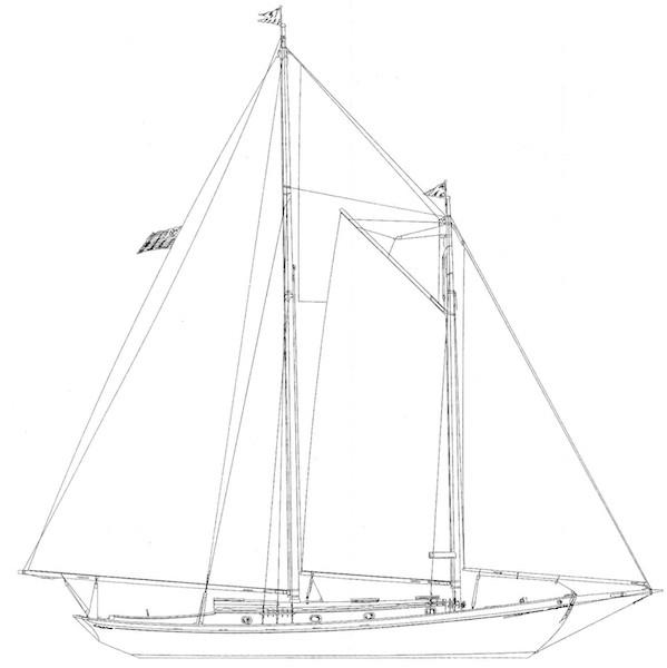 Schooner profile