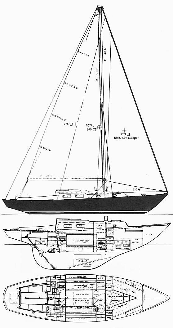 Alberg 35 drawing