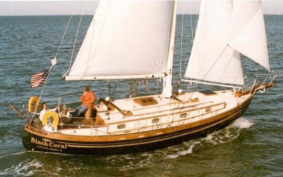 Club-foot staysail