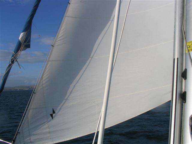 Staysail size