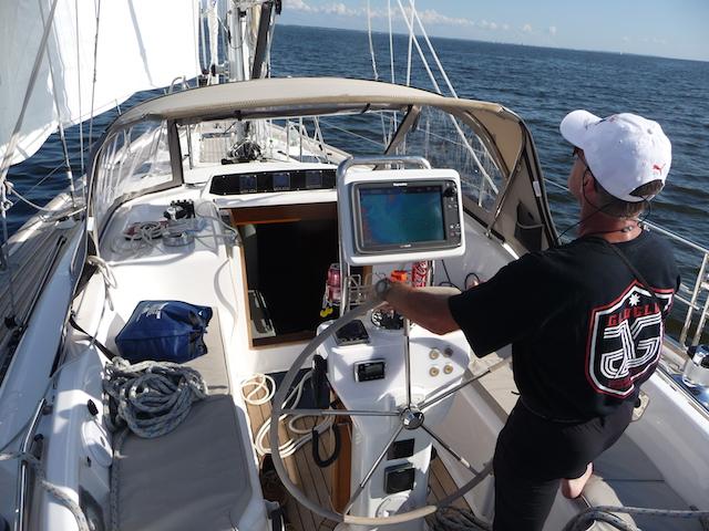 Oyster cockpit