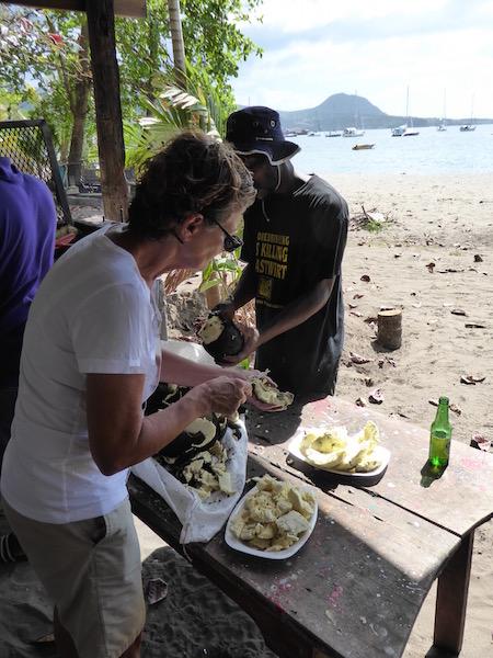 Breadfruit prep