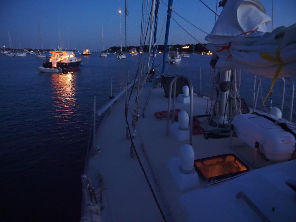 Evening aboard