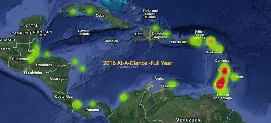 Caribbean crime map