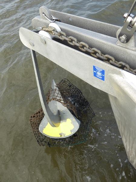 Crab trap on anchor