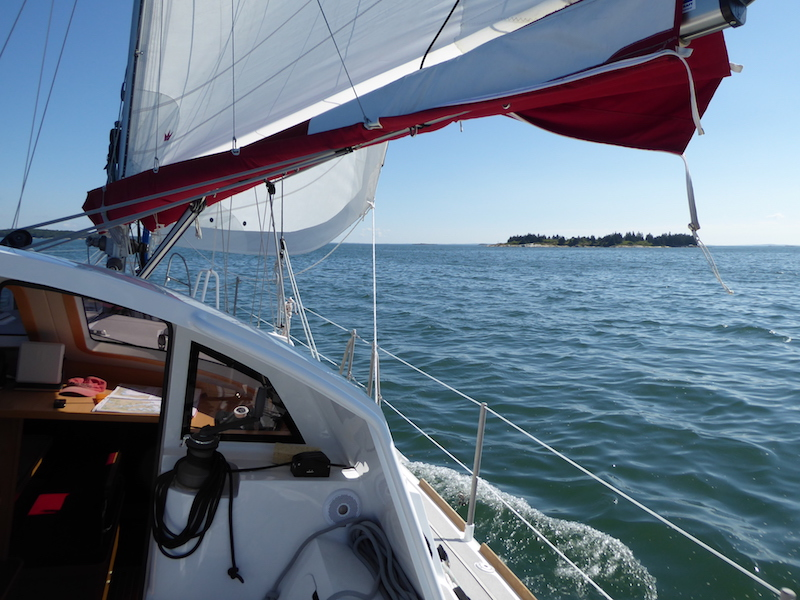Sailing up Muscle Ridge